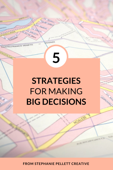 5 Strategies for Making Big Decisions