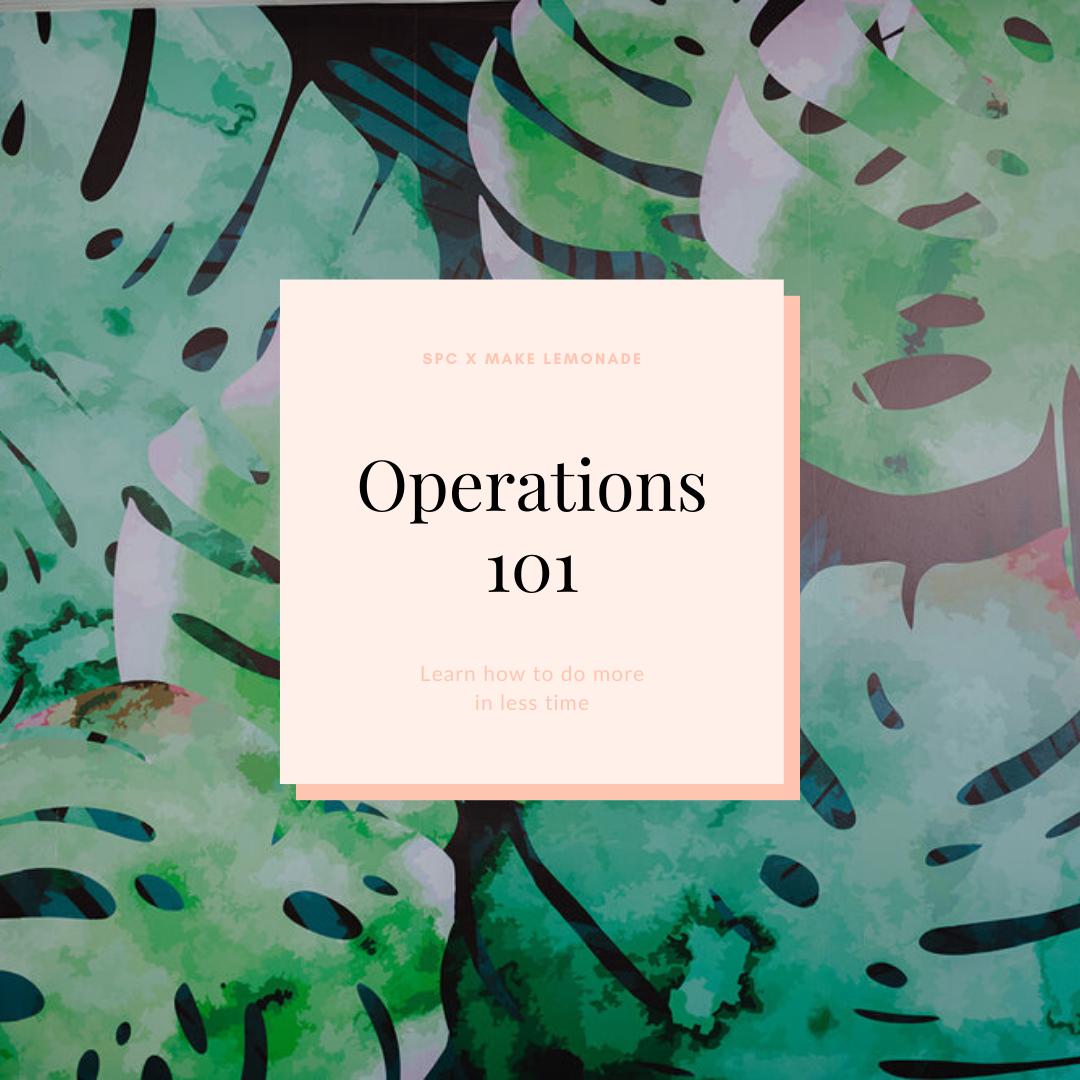 Operations 101 – Stephanie Pellett Creative