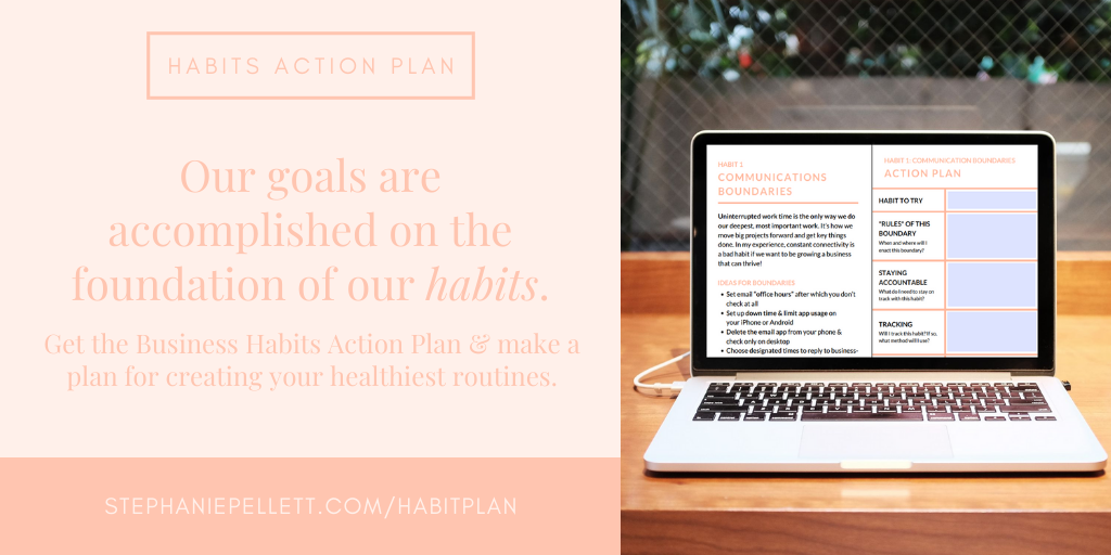 The Business Habits Action Plan – Stephanie Pellett Creative