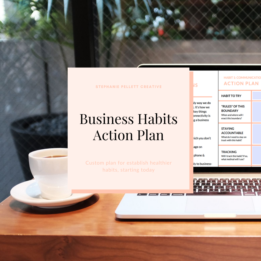 Business Habits Action Plan – Stephanie Pellett Creative