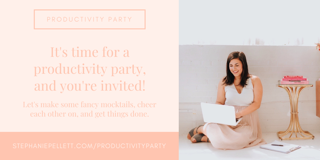 Productivity Party – Stephanie Pellett Creative